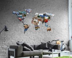 Planisfero da parete 1,5 metri con foto personalizzate