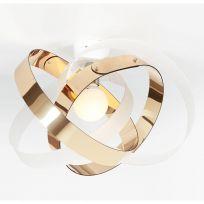 Plafoniera Nuvola Bicolor Oro e Satinato di Emproium