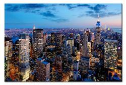 Quadro su vetro acrilico Blue Sky in New York