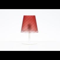 Lampada da tavolo Boemia colore Rosso L 18