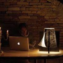 Lampada da tavolo Dell'Avvocato in feltro