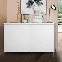 Madia moderna 2 ante Cloe Bianco Opaco con piedini 17 colorazioni