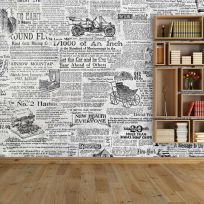 Carta da parati decorativa giornale vintage