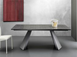 Tavolo allungabile Pechino 160x90 cm oxide cemento
