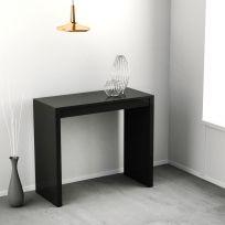 Consolle Eliza allungabile colore nero laccato lucido o opaco 3 mt