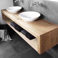 Mobile bagno in legno massello 140 x 45 x 45 cm