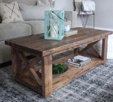 Tavolino basso in legno massello 120x60x50 cm