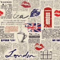Carta da parati decorativa London