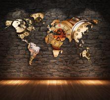Planisfero da parete 2 metri orologi vintage