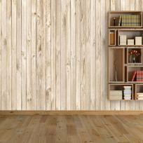 Carta da parati effetto legno naturale