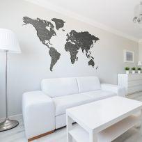 Planisfero da parete 2,5 metri grigio con scritte
