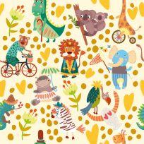 Carta da parati Baby collection Animali colorati