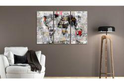 Quadro su vetro acrilico World Collage