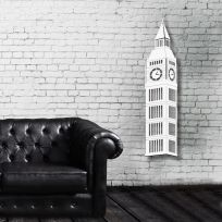 Londra Big ben - legno bianco