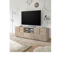 Porta Tv linea Dama a 2 ante e 1 cassetto in Rovere