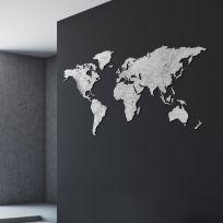 Planisfero da parete 2 metri finitura Marmo