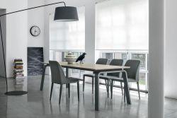 Tavolo allungabile Deimos in finitura Corda con struttura in metallo L 160