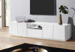 Porta Tv 4 ante e 1 cassetto linea Virgola in Bianco Lucido