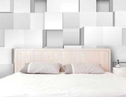 Carta da parati decorativa a cubi 3D bianchi