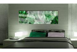 Quadro su vetro acrilico Green Flowers