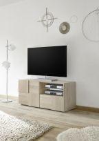 Porta Tv  linea Dama a 1 anta e 1 cassetto in Rovere