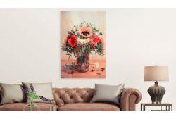 Quadro su vetro acrilico Red Sunflower
