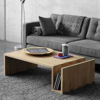 Tavolino basso in legno massello 120x60x40 cm
