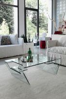 Tavolino Airone in Vetro Trasparente