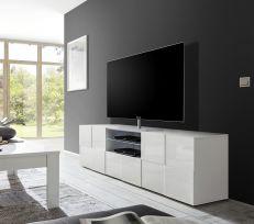 Porta Tv linea Dama a 2 ante e 1 cassetto in Bianco lucido