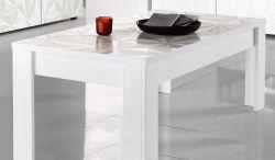 Tavolino linea Prisma in finitura Bianco Laccato Lucido Serigrafato