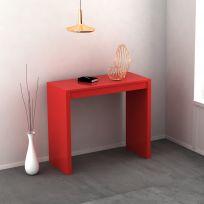 Consolle Mathilde allungabile colore rosso laccato lucido o opaco 3 mt