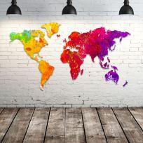 Planisfero da parete 2 metri Colors