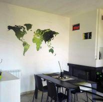 Planisfero da parete 1,5 metri verde