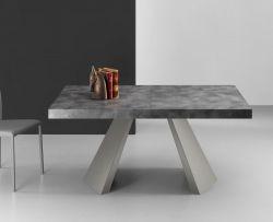 Tavolo allungabile Pechino 160x90 cm grigio