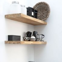 Mensola in legno massello 100 cm