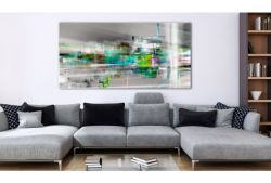 Quadro su vetro acrilico Vert Abstrait