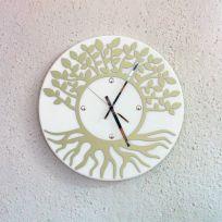 Orologio da parete albero della vita - bianco / tortora