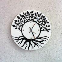 Orologio da parete albero della vita - Bianco / nero