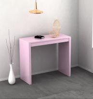 Consolle Jenny allungabile colore rosa laccato lucido o opaco 3 mt