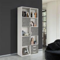 Libreria VOLO linea fly bianco frassino e cemento