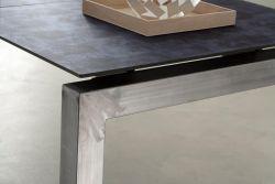 Tavolo Aliante Eurosedia ferro spazzolato con vetro cemento