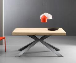 Tavolo allungabile Osaka 160x90 cm colore ferro e quercia