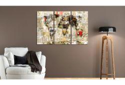 Quadro su vetro acrilico Plan Collage