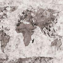 Carta da parati carta geografica vintage monocolore