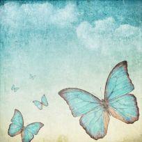 Carta da parati decorativa con farfalle