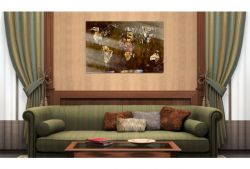 Quadro su vetro acrilico Klimt Map