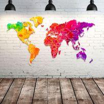 Planisfero da parete 2 metri Colors con scritte