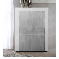 Credenza linea Easy in Bianco e Cemento