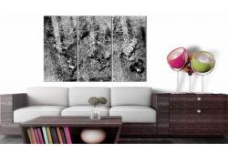 Quadro su vetro acrilico  Abstract Black&White Map