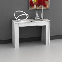 Consolle  NUVOLA 110 allungabile colore bianco opaco